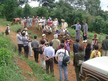 ジャカランダ農場での歓迎