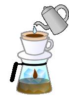 レギュラーコーヒーを使った 急冷式アイスコーヒーの作り方 3