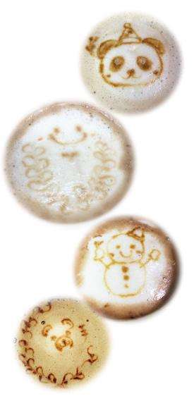オーガニック・インスタント・コーヒー液で描く ラテアート風 お絵描きコーヒー