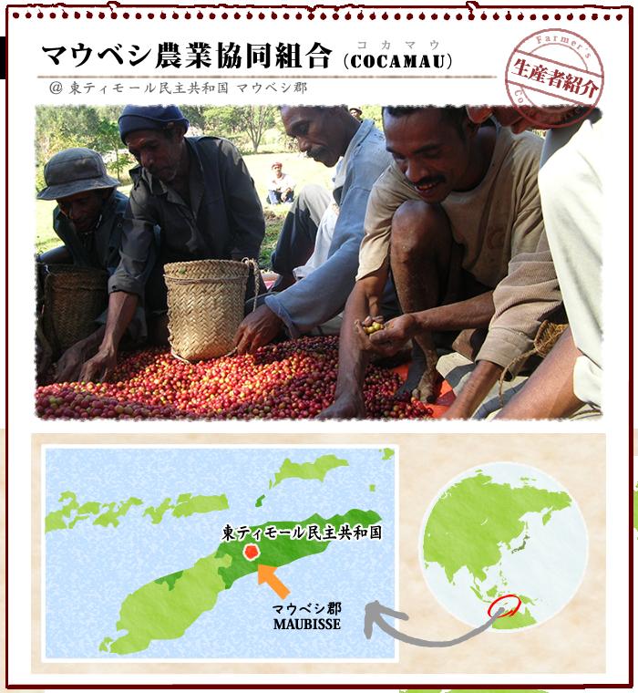 マウベシコーヒー生産者協同組合(COCAMAU) タイトルと地図
