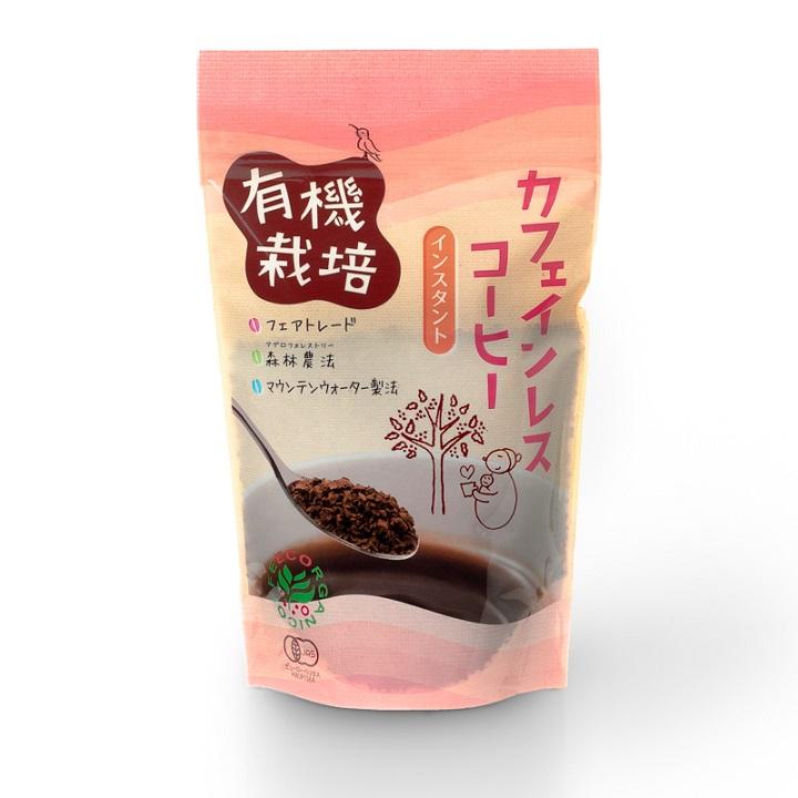 有機栽培カフェインレスコーヒー100g(インスタント)