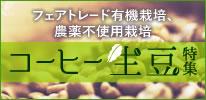コーヒー生豆特集 フェアトレード有機栽培、農薬不使用栽培コーヒー生豆