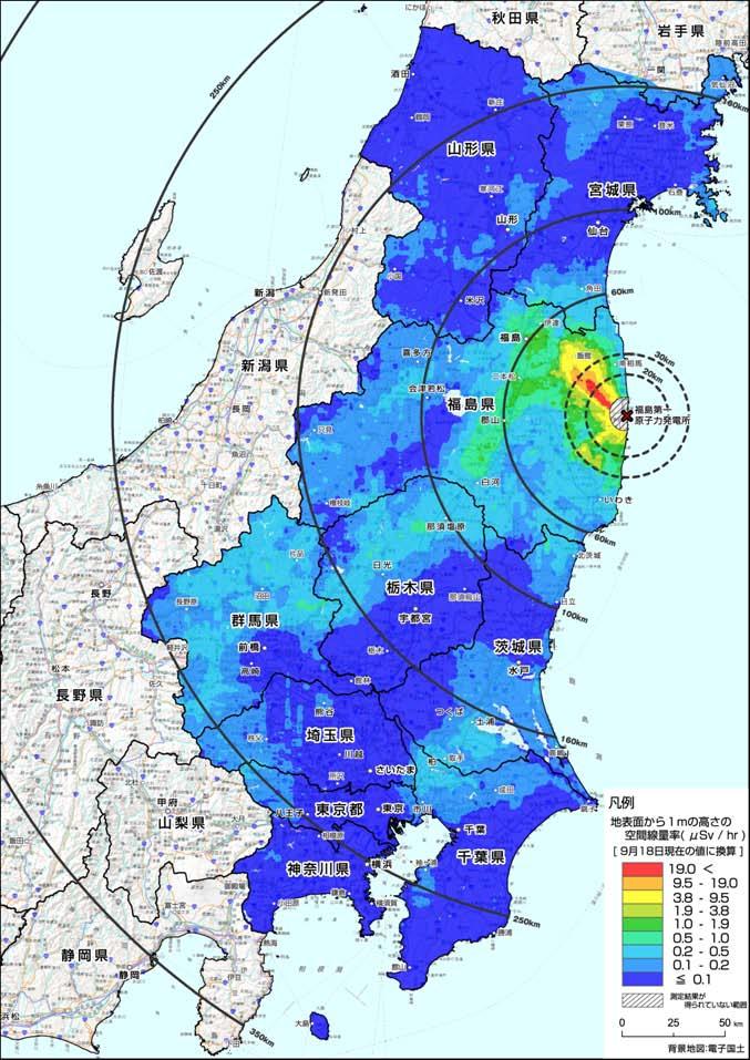 空間線量汚染地図:東洋経済