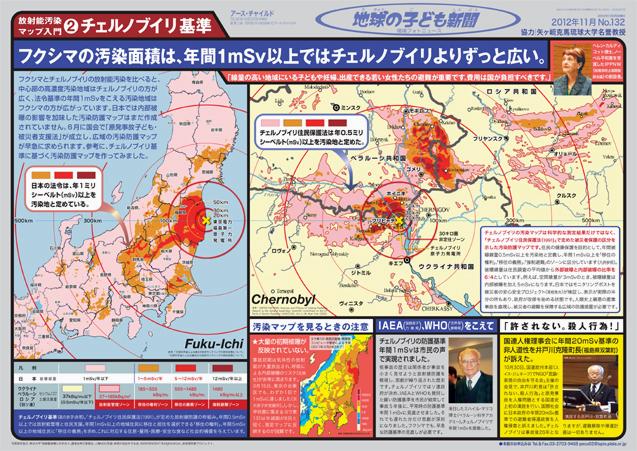 地球の子ども新聞:チェルと日本の汚染地図比較