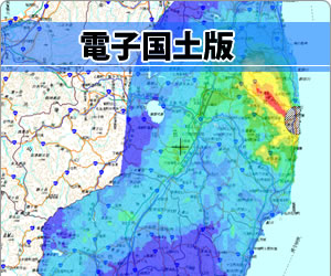 放射能汚染地図 文科省 電子国土版