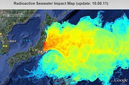 海の放射能汚染マップ