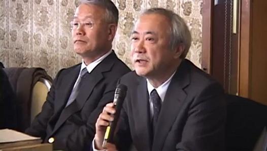 右:鈴木真一 左:山下俊一