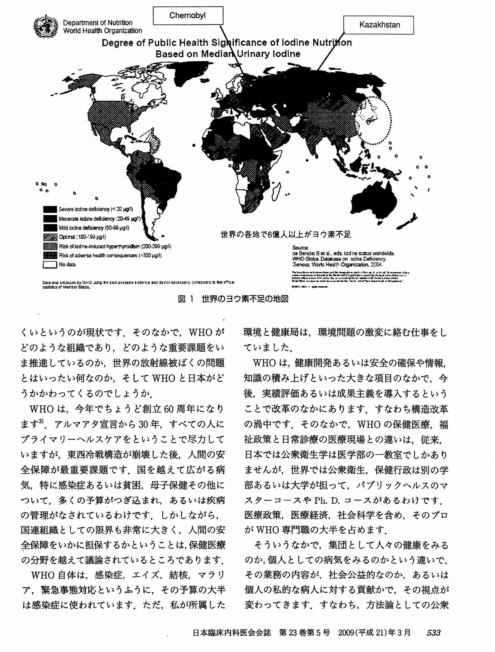 山下俊一講演「放射線の光と影」2009年3月 日本臨床内科医会