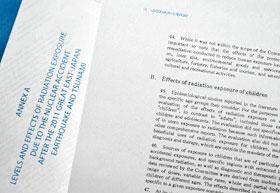 画像国連科学委員会が福島原発事故の影響について調べた報告書