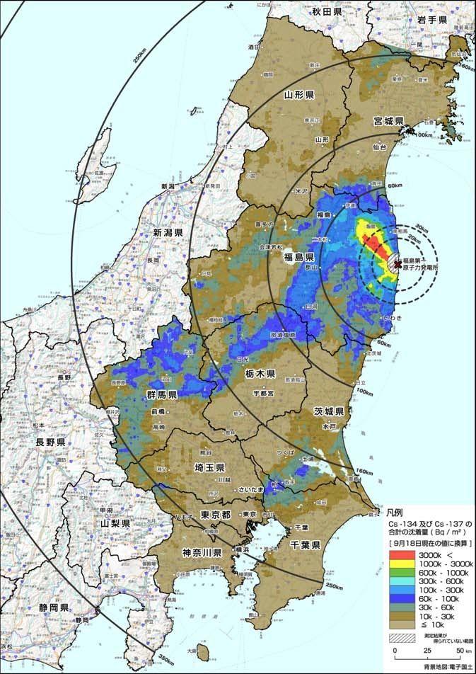 東日本汚染地図(東洋経済)