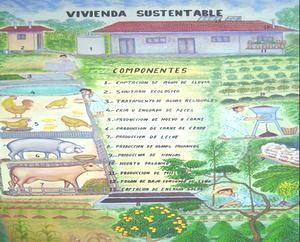 持続可能な家屋(イラスト)