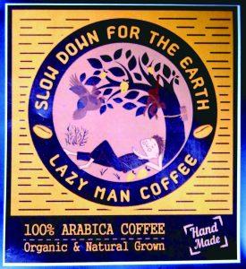 レイジーマン・コーヒーのパッケージのラベル